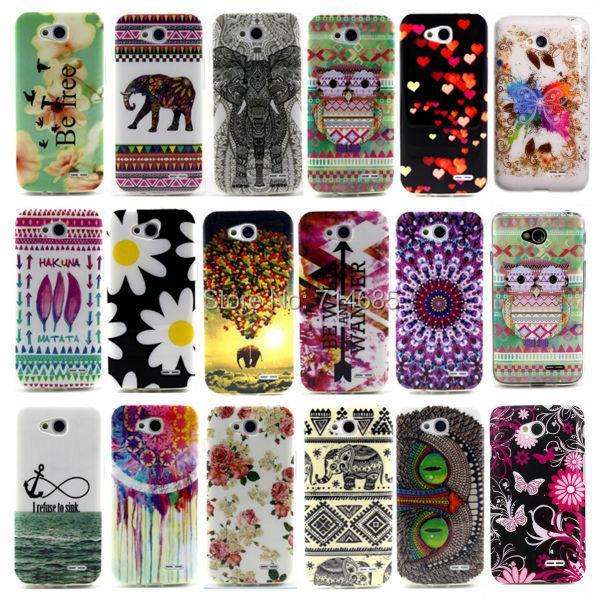 Cute Cool Design Soft TPU Protective Phone Bags for LG L65 Dual SIM D285 D280n D280 & LG L70 Tri D340 D320 D325 Case Owl Cover(China (Mainland))