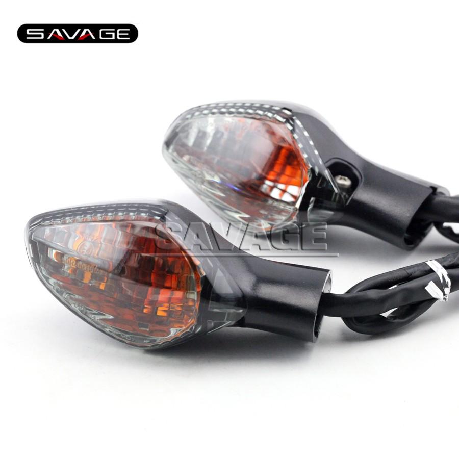 Купить Для HONDA CBR500R CB500F CB500X CB650F CBR650F CBR 500R/650F Дым Мотоциклов Передняя сигнала Поворота Индикатор Свет Лампы