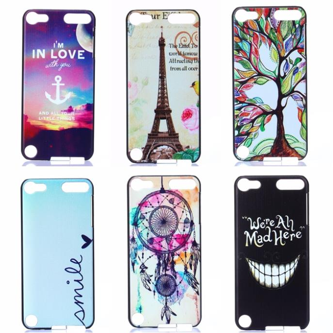 For Apple iPod Touch 5 case Fashion 15 Style Cute Eiffel Tower Elephant Painted case cover(China (Mainland))