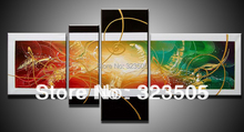 Buy 4 panel canvas wall art Modern abstract acrylic wall deco cheap picture oil painting canvas living room home decoration for $54.00 in AliExpress store