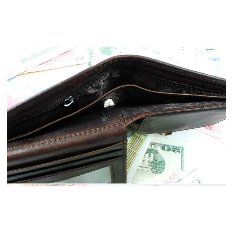 Small Vintage Wallet Brand High Quality Vintage Designer 100 Genuine Crazy Horse Cowhide Leather Men Short