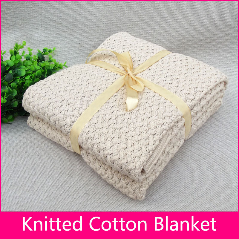 Knitting Pattern Blanket Throw : Knitted blanket Air conditioned blanket Super soft warm ...
