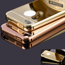 Buy iphone 4 Bumper Case Golden plating Aluminum Frame + Mirror Acrylic Back Cover Case iphone 4 4S Aluminum Metal Cases for $3.49 in AliExpress store