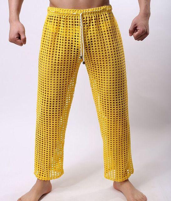 Сексуальный гостиная сна сетки брюки мужские , шорты чистой дышащий мужчины Gashion ...