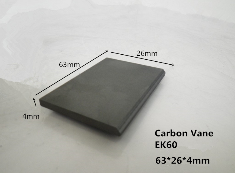 63x26x4mm EK60 carbon vanes for Rietschle vacuum pump / carbon rotor for Wet Running Vane Pumps(China (Mainland))
