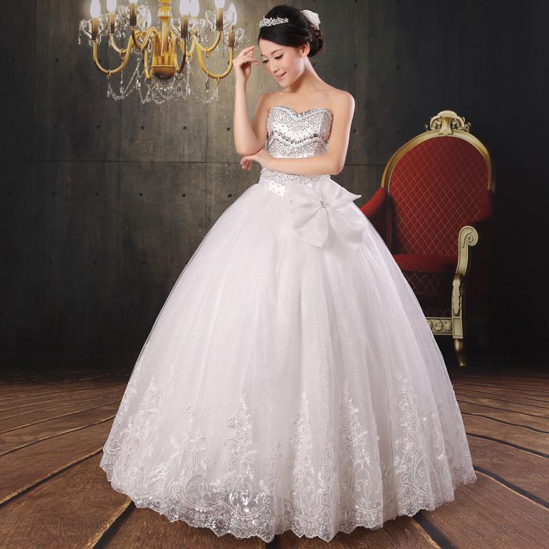 Top Luxury Wedding Dress : Top luxury strap wedding dress full bling beading princess