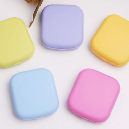 1pc Pocket Mini Contact Lens Case Travel Kit Easy Carry Mirror Container Holder Free Shipping