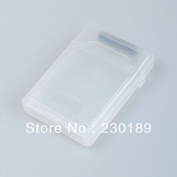 3.5 Inch IDE SATA Hard Disk Drive HDD Enclosure Protection Storage Case Box White Shipping