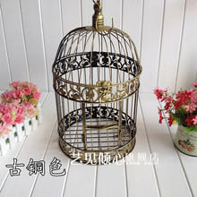 Factory direct European decorative wrought iron bird cage bird cage ornaments vintage wedding props wedding road lead Birdcage(China (Mainland))