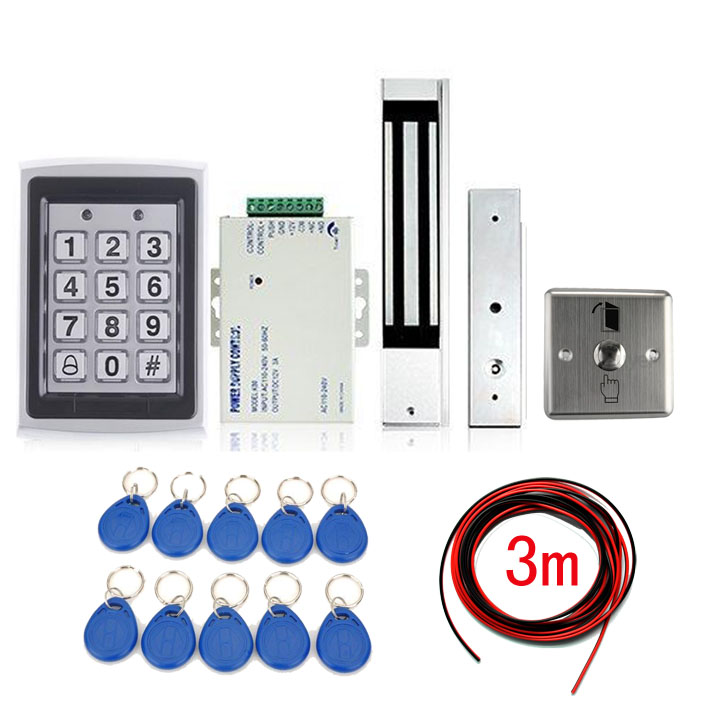 Фотография FREE SHIPPING New Arrival Metal RFID Entry Door Lock Access Control System + 10 Keys