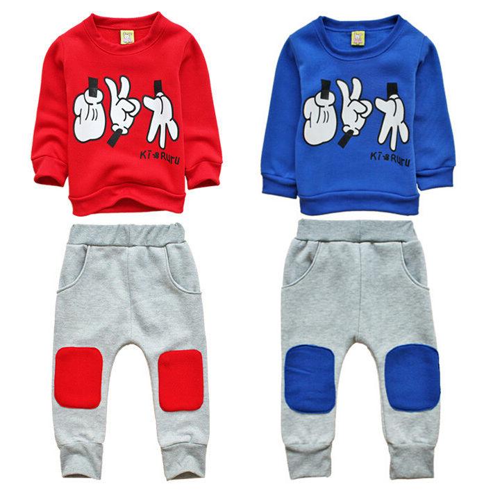 2015 Autumn Children's Sets Character Regular Full Vestidos Kids Sport Wear Garment Fashion Baby Boys Clothing Set Suit Clothes(China (Mainland))