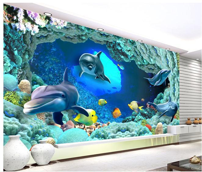 20170317064501 papel de parede quarto fundo do mar for Papel pintado para paredes 3d