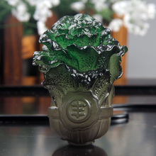 Freeshipping wholesale Jade cabbage mascot heterochrosis tea pet small tea sets decorated