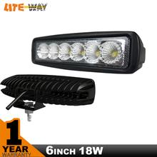 6INCH 18W MINI LED BAR 12V LED WORK LIGHT SPOT FLOOD FOG LAMP FOR OFF ROAD BOAT TRUCK ATV 4x4  LED DRIVING LIGHT(China (Mainland))