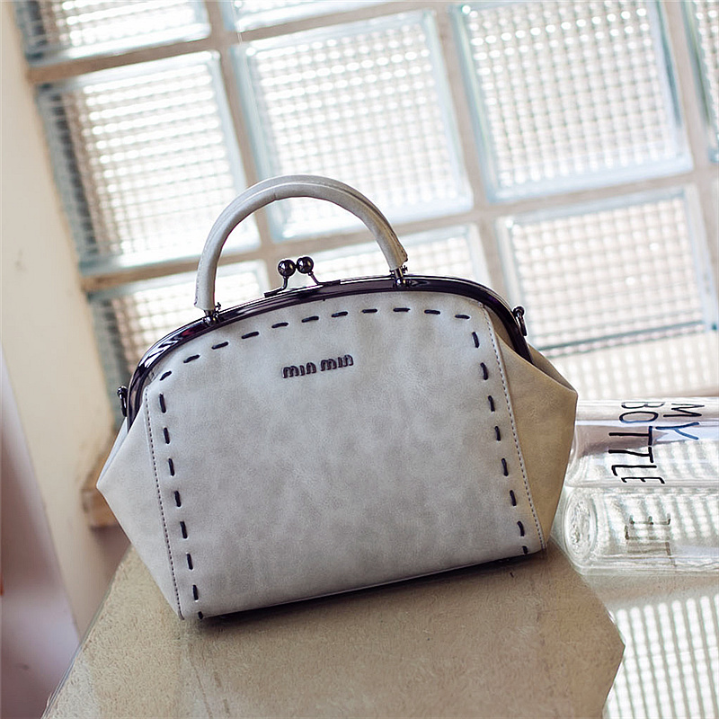 Women's handbag 2015 spring and summer bags knitted handbag female shoulder bag vintage steel clip shell bag(China (Mainland))