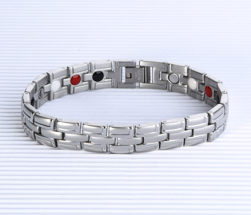 TY072 stainless steel bracelet wholesale magnetic health jewelry jewelry men spot(China (Mainland))