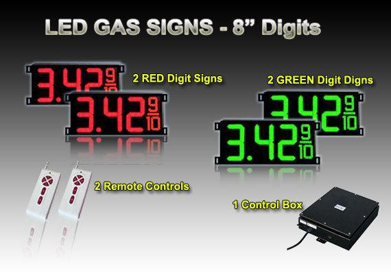8 inch best led gas price signs & cash credit signs(China (Mainland))