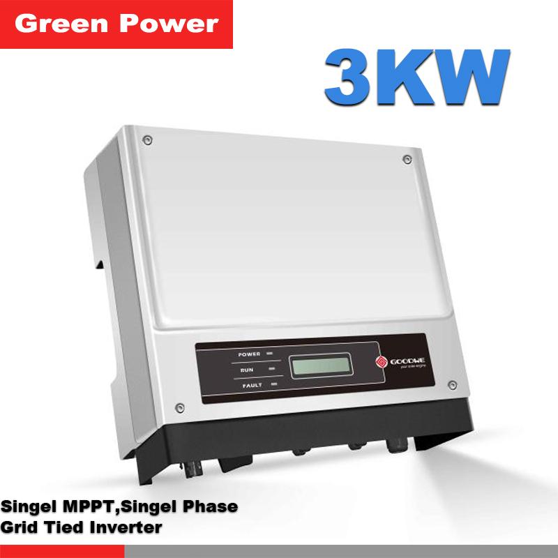 GW3000-NS Goodwe Grid connected Inverter,low start voltage 80VDC solar inverter,MPPT efficiency>99.9%,APP monitoring system(China (Mainland))