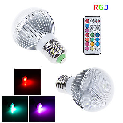 3W E27 RGB LED Light 16 colors Lamb Bulb+24 Key IR Remote Controller Party Decor(China (Mainland))