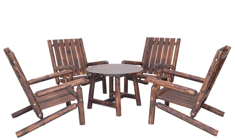 Outdoor furniture high quality Leisure wooden garden set table and chair(China (Mainland))
