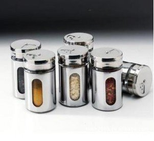 FREE SHIPPING 2pcs/Lot Kitchen Condiment Container,Glass Liner Of Stainless Steel Skin Durable Cruet #WH24