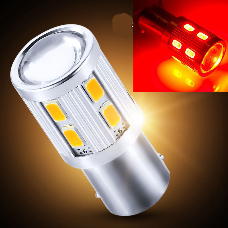 1156 BA15S P21W 1157 T20 Cree Lens Samsung 5730 12SMD LED Lamp Car Turn Signal Bulb Tail Lights Retail Reverse Light Lamp(China (Mainland))