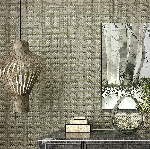 Vintage Non Woven Linen Texture Wallpaper Roll Wall Papers Home Decor For Living Room Bedding