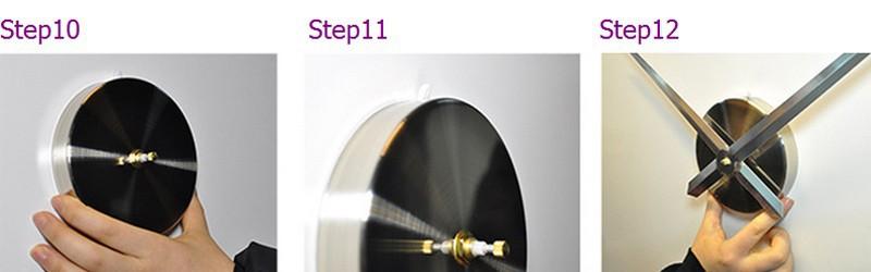 קישוט הבית מטרים גדולים רומיות מודבקת המראה אופנה אישיות DIY יצירתיים הקיר בסלון שעון W49