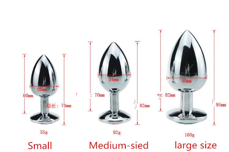 Cores aleatórias De Metal Anal Toys Butt Plug Anal Plug anal Cristal de Aço Inoxidável Jóias sex produtos(China (Mainland))