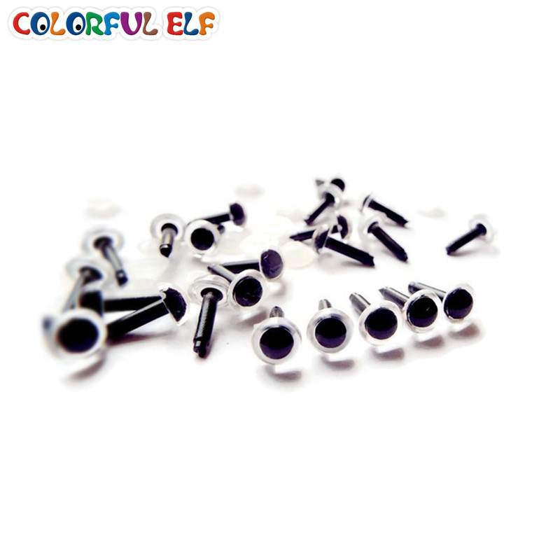 50pairs/lot 6mm Clear Animal eyes Plastic Soft toys eyes For Amigurumi doll come with washers free shipping(China (Mainland))