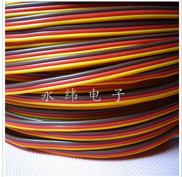 30 core x0.08mm 1.2mm servo  JR color extension cable 3p line futaba jr model aircraft model wiring Wholesale Free Shipping<br><br>Aliexpress