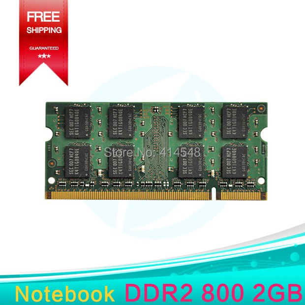 Original PC2-6400 DDR2 800MHZ 2GB Notebook ram Compatible with INTEL and AMD ,Support dual channel,Fully compatible with(China (Mainland))