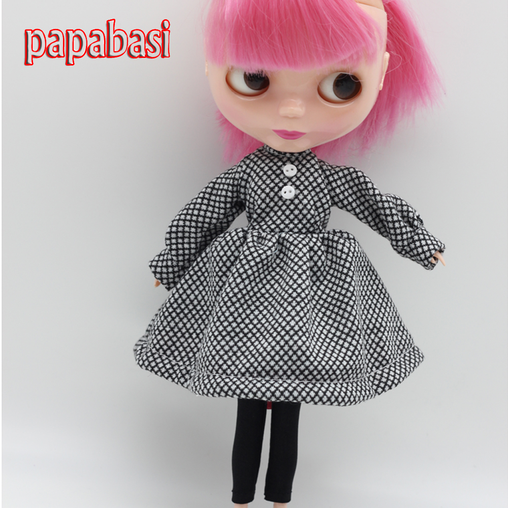 Papabasi Free shipping Doll Dress suit for 1/6 BJD Blyth doll clothes(China (Mainland))