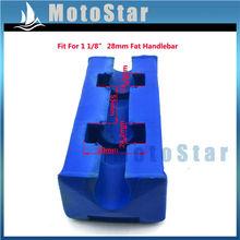 Buy 1 1/8'' 28mm Square Fat Oversize Handlebar Blue Pad Pit Dirt Motor Bike Motorcycle MX Motocross ATV Quad 4 Wheeler for $7.39 in AliExpress store