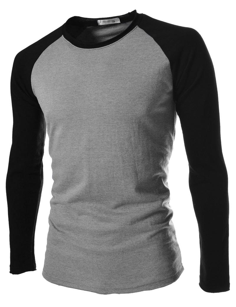 Wholesale T Shirt Male 2017 Tshirt Mixed Colors Long Sleeves Shirt