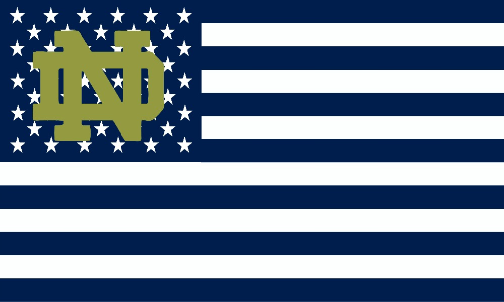 Notre Dame Fighting Irish Flag 90x150cm metal grommets 52046(China (Mainland))