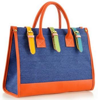 Fashion Personality Casual canvas bag Top quality women handbags H023(China (Mainland))