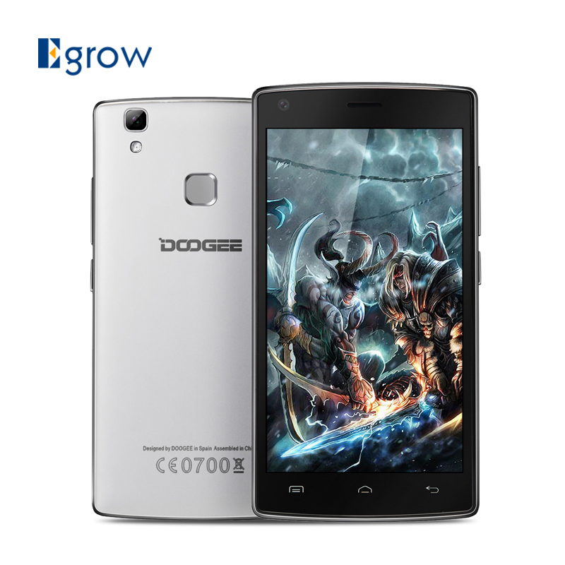 DOOGEE X5 Max Fingerprint Cell Phones MTK6580 Quad Core 5.0 Inch Smartphone Android 6.0 1G RAM 8G ROM Mobile Phone 4000mAh 8.0MP(China (Mainland))