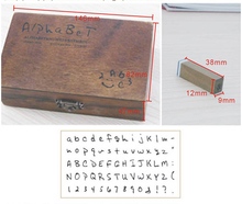 Freeshipping! 70pcs/set/ New Number and Letter Wood stamp Set/Wooden Box/Multi-purpose stamp/DIY funny work/handwork/Wholesale(China (Mainland))
