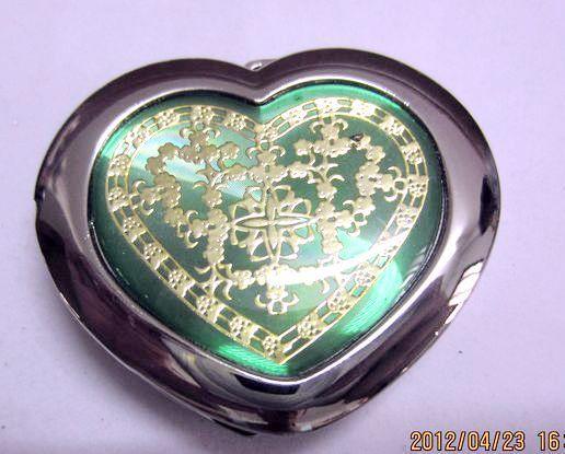 Silver Tone Heart Pattern Folding Handbag Purse Hanger Table Hook Pink free shipping(China (Mainland))