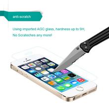 0.3mm ecran protecteur pelicula de vidro protective tempered glass screen protector protection for iphone 5 iphon 5s