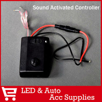 12V 2A Car Auto Voice Music Sensitive Sensor Sound Activated Light Switch for LED Bulbs Strip Daytime Running Lights