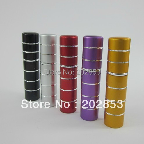 5 Pump 10ml Anodized aluminum glass empty travel perfume bottle perfumery sprayer scent fragrance
