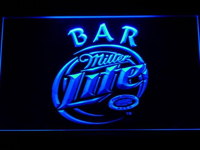 406 b miller lite bar beer led neon light sign wholesale dropshipping. Black Bedroom Furniture Sets. Home Design Ideas