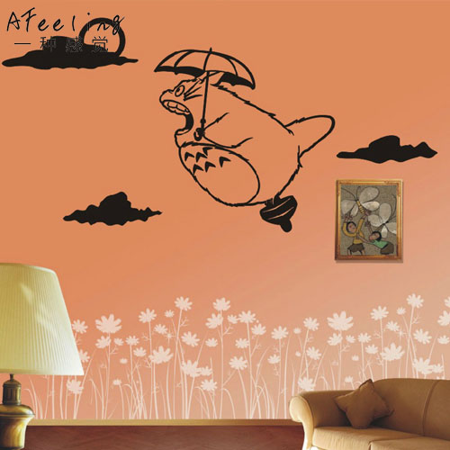 free shipping fly totoro car wall stickers japanese decals vinyl decal