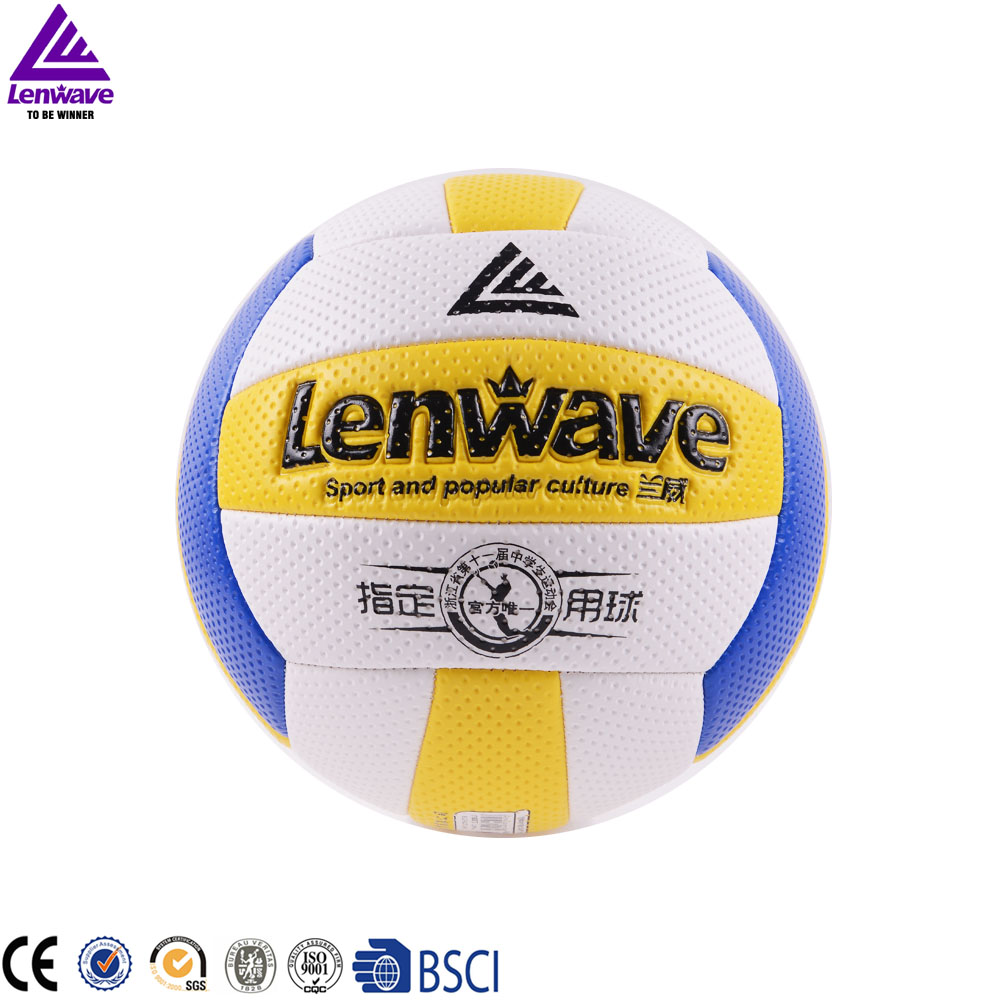 Free Shipping Volleyball Size 5 Game Thickened Soft PVC Volley Ball Lenwave Brand Indoor Compitition Volleyball Ball(China (Mainland))