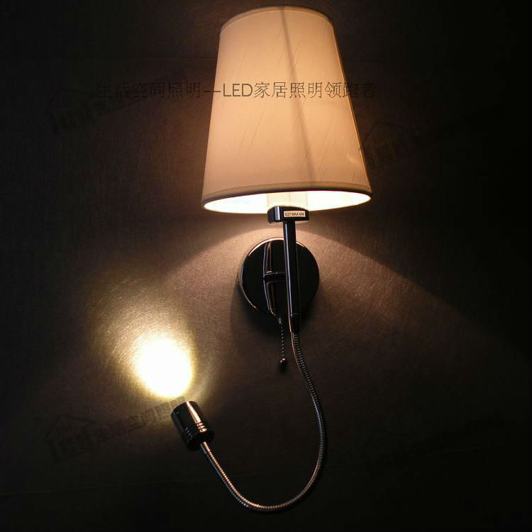 Simple Swing Arm Wall Sconce/4 Stages Switch Design/Color&Shape of Fabric Shade Optional/Version ...