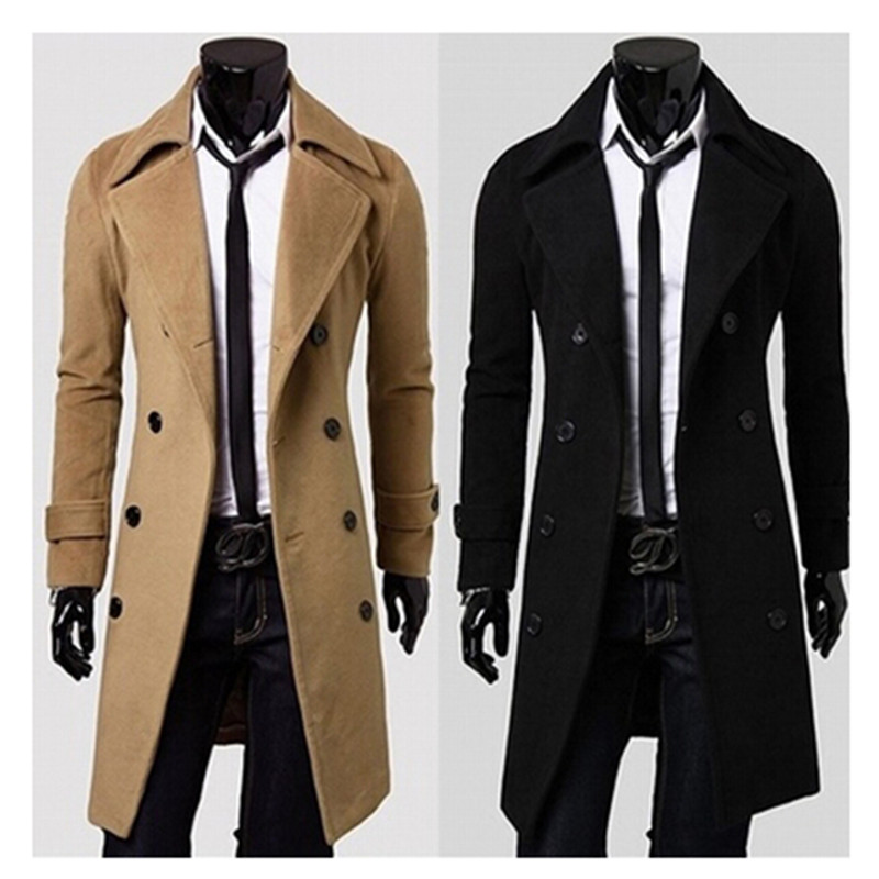 Compare Prices on Mens Peacoat Long- Online Shopping/Buy Low Price