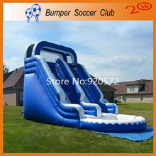 Free shipping ! Free Pump ! Outdoor Commercial Inflatable Water Slide with Pool,Used Playground Water Slide For Kids and Adult(China (Mainland))