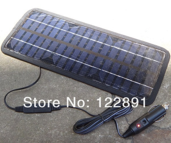 Wholesale!12V4.5W Solar Charger Solar Panel /USB Battery Charger For Car 12V Rechargeable Battery 10pcs/lot EMS Free Shipping